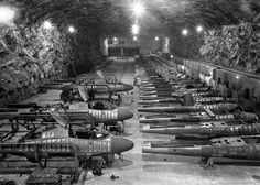 He-162 Salamander unground factory April 1945   http://worldwartwo.filminspector.com/2014/12/he-162-salamander.html
