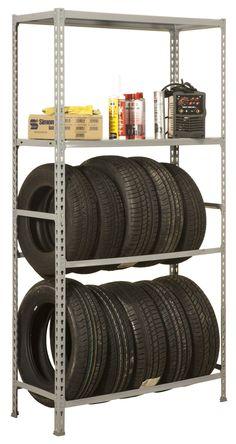 "Tire Rack Storage & Shelving | 79"" x 39"" x 16"" | 1 Ton Capacity | SimonGarage Plus 4/400"