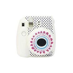 Etiqueta engomada de cámara Fujifilm Instax Mini 8 cámara etiqueta flor blanca