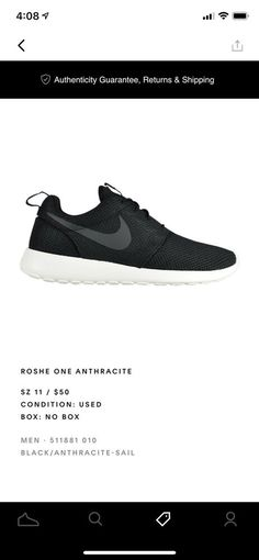 da5fbb01f Nike Roshe One Men's Size 11 It Was Not My Size Only Used Twice. 9.9/10  Condi #fashion #clothing #shoes #accessories #mensshoes #athleticshoes (ebay  link)