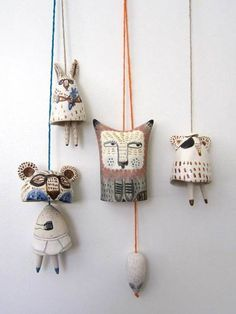 If you're anything like us, you'll quite fancy the look of these handcrafted bells by Melbourne ceramicist Yen Yen Lo. Ceramics Projects, Clay Projects, Clay Crafts, Arts And Crafts, Ceramic Clay, Ceramic Plates, Ceramic Pottery, Cerámica Ideas, Kids Clay