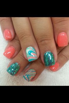 Swirls, coral, & turquoise!!!