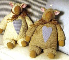 Tilde sheep with heart free pattern