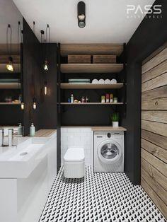 Baños de estilo industrial de PASS architekci