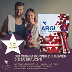"Forever ARGI+ Stick Packets ARGI+ provides all the power of L-Arginine, plus pomegranate. L-Arginine is a potent amino acid that helps to support what scientists refer to as the ""Miracle Molecule"" - nitric oxide. L-Arginine is converted into nitric oxide in the body, to help support circulation. Enhanced blood flow supports many important systems in our body. #gabokakucko"