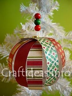 Christmas Paper Crafts - Delicate Paper Tree Ornament