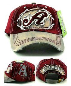26e4016b3c6df Alabama A New Leader Ladies Women Vintage Crimson Tide Colors Red Gray Era  Strapback Hat Cap C118078A3X5