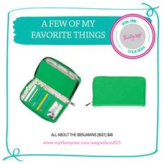 Thirty-One Spring Summer 2015 Catalog Preview - All About the Benjamins Wallet.  January 2015 Customer Special.  A few of my favorite things.  Thirty-One Gifts 31 #31 #thirtyone http://www.mythirtyone.com/amywilson825
