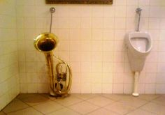 Horney Men Urinal