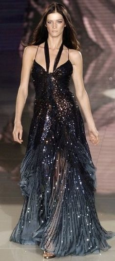 Versace starry night gown