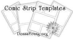 Variety of Printable Comic Strip Templates - Teaches story sequencing as well as helping reluctant writers.