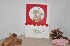 Stampin' Up! beim ZettelZirkus: Cozy Critters, Weihnachten, Fuchs, Geschenke, Von den Socken, Glückssterne, Bommelband,