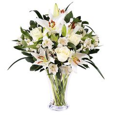 Innocent Love: lilies and white roses