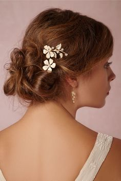 Clematis Pins (2) in Bride Veils & Headpieces at BHLDN $180.00