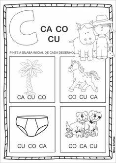 atividades silábicas letra C com as vogais