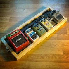 My son and I just finished building a pedal board for each of us. This is his. #woodworking #guitar #bigmuff #electroharmonix #pedalboard #guitareffects #guitarnerd #russianbigmuff #effectpedals #diypedalboard