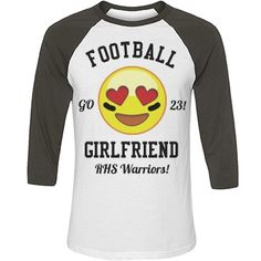 Customize your own emoji football shirt for this years season. Add your boyfriends name and number and get loud! The heart eyed emoji is perfect to cheer on your football player. Boyfriend Football Shirts, Football Player Girlfriend, Boyfriend Names, Girlfriend Quotes, Football Players, Boyfriend Stuff, Future Boyfriend, Football Season, Boyfriend Gifts