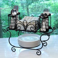 Great deal on all home goods: Buffet Caddy Large Modular Patio Picnic Catering Home Garden Party & Events. Kitchen Items, Home Decor Kitchen, Kitchen Design, Kitchen Layout, Wrought Iron Decor, Iron Furniture, Kitchen Organization, Kitchen Accessories, Home Goods