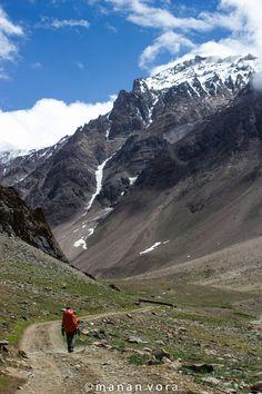 On our trek through the Himalayas