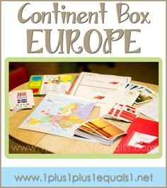 Europe Continent Box ~ ideas, printables, resources, and more! From Use with My Father's World Exploring Countries and Cultures Geography Activities, Teaching Geography, Geography Map, Geography For Kids, World Geography, Classroom Activities, Montessori Activities, Europe Continent, Continents And Countries