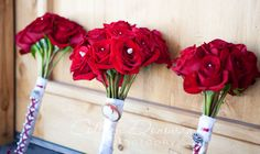 red rose bridal bouquets DIY