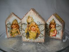 Christmas village Christmas houses holiday by juliekarsky on Etsy