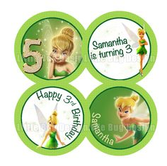 TinkerBell Cupcake Toppers Printable - TinkerBell Party - Tinkerbell Favors - Tinkerbell Decoration - Campanita. 5.00, via Etsy.