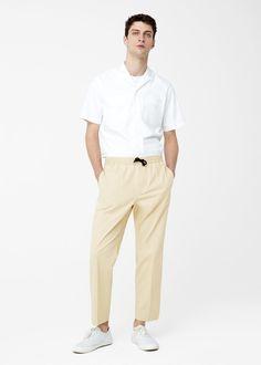Pantaloni crop cotone   MANGO MAN