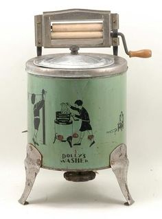 Vintage 1930's Tin Buffalo Toy No. 115 DOLLY'S WASHER Doll Washing Machine