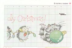 Cross-stitch Holly-Jolly, part 2... color chart on part 1
