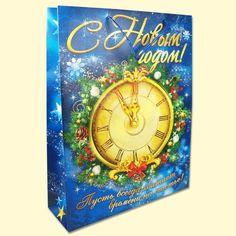 "SHOP-PARADISE.COM:  Geschenktüte ""Uhr"", laminiert, 43x33x10 cm, Set 12 St. 15,12 €"