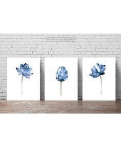 Flores de agua de ilustración de flor de loto de impresión de
