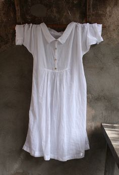White Cotton Dress MegbyDesign