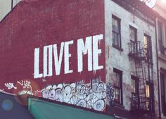 Love Me graffiti