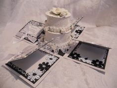 explosion boxes | ... Designs by Rina: Saturated Canary Wedding Easel Card Explosion Box