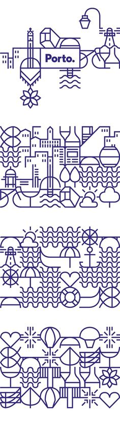 New identity for the city of Porto on Behance in Geometry