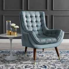 Blue Lounge, Pool Lounge Chairs, Velvet Lounge, Outdoor Lounge, Lounge Chairs For Bedroom, Sofa Design, Luxury Chairs, Luxury Cushions, Mid Century Chair
