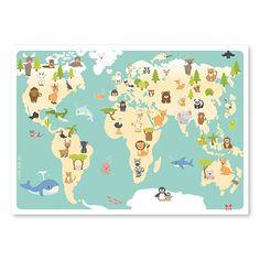 50X70 Weltkarte