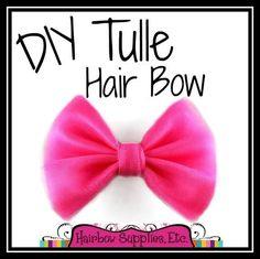 tulle hair bow tutorial
