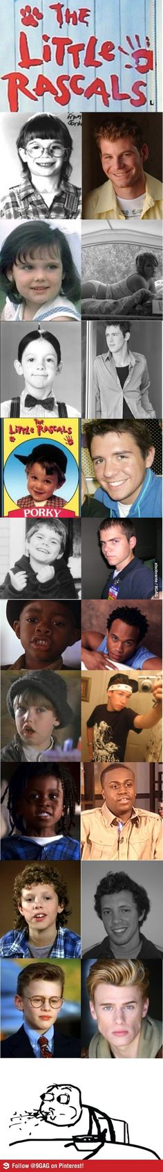 The Little Rascals (Then & Now) - how did Spanky end up working at Wal Mart?