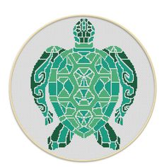 Turtle - cross stitch pattern.  SIZE: 125 x 154 Stitches Dimensions (14-count aida): 8.93 x 11.00 inches or 22.68 x 27.94 cm (18-count aida): 6.94 x 8.56 inches or 17.64 x 21.73 cm DMC Colors: 3 Fabric: Any fabric you like Types of stitches: Cross stitch only Skill Level: Easy   ONLY PATTERN! This PDF file counted cross stitch pattern is available for instant download.   This PDF pattern Included: - Cross stitch instructions - Color image of the finished design - Color Block Chart - Color…