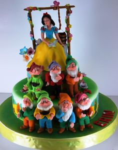 Snow White and the 7 Dwarfs cake