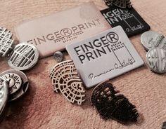 Denim accessories. Denim branding tag.