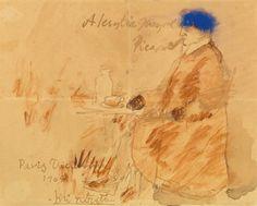 picasso, pablo portrait de l'ar ||| drawings ||| sotheby's n09140lot64yfpen