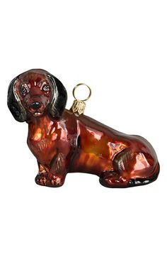 Joy to the World Collectibles Sitting Dachshund Ornament available at #Nordstrom