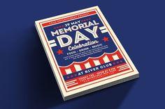 Memorial Day Celebration Flyer by muhamadiqbalhidayat on @creativemarket