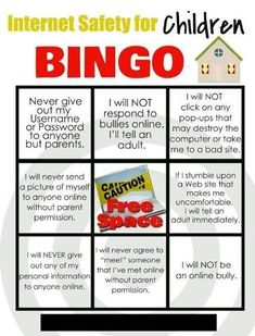 Internet safety for Children Bingo card Family Home Evening copy *not working currently Social Media Etiquette, Internet Safety For Kids, Family Home Evening Lessons, Digital Literacy, Digital Citizenship, Life Skills, Coping Skills, Health And Safety, School
