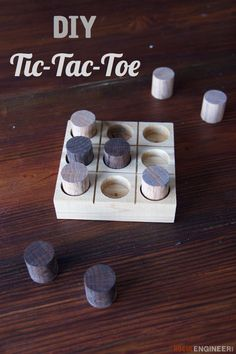 diy-wooden-tic-tac-toe | Free Plans | rogueengineer.com #DiyWoodenTicTacToe#babyandchildDIYplans