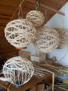 Фото - идея. Светильники плетёные