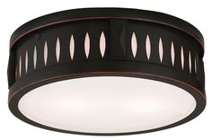 Livex Lighting Vista Olde Bronze Ceiling Mount 65507-67